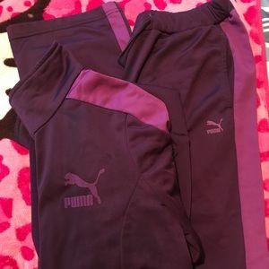 Women's Purple Puma Track Suite